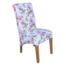 Chair.Fabric-Flower Scene