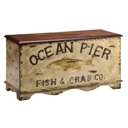 Ocean Pier Storage Box Chest