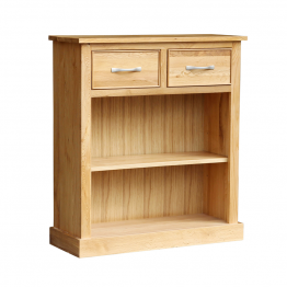 Oak Occasional 2 Drawer Bookcase