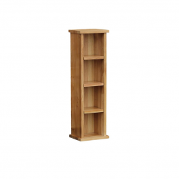 Oak Occassional CD/DVD Single Shelf Low