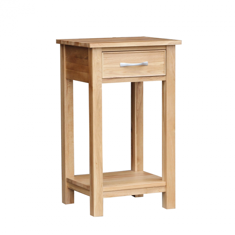 Oak occasional 1 drawer side table for Occasional table with drawers