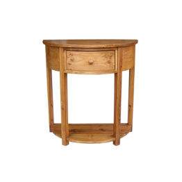 Reclaimed Pine Console Table with Drawer