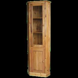 Reclaimed Pine Glazed Corner Cupbd 1 door