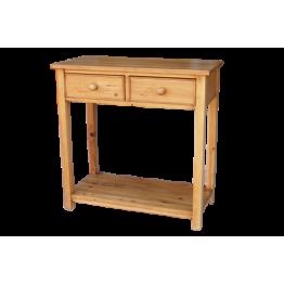 Reclaimed Pine Telephone Table-2 Drw