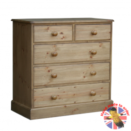 """Cottage Pine 36"""" 2 Over 3 Chest of Drawers"""