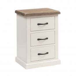 York Painted Bedroom Bedside  3 drawer - Standard