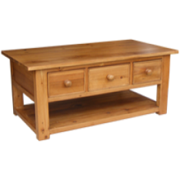 Reclaimed Pine Coffee Table 3 Drawers