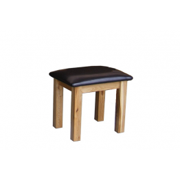 Oak Stool With Padded seat