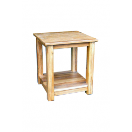 Oak Occasional Lamp Table + Shelf