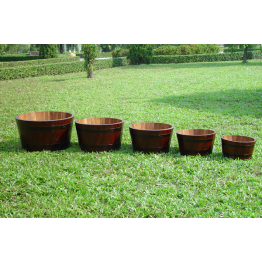 Set of 5 Garden Round Tubs
