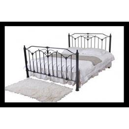 "4ft 6"" Rose Metal Bed (Double)"